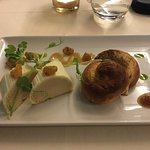 Foie grams with toasted brioche appetizer