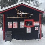 Charming dog sled shed