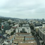 Panoramic view from our window. Directly in front is Capitol Records building.