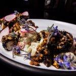 Octopus with salsa morita