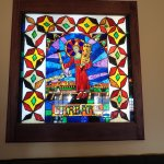 Learn about this stained glass window in the restuarant ! Fascinating !