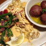Snapper with creamy Felix sauce