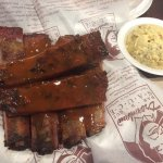 Six ribs with potato salad  Tuff ribs
