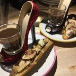 Mushroom Crostini and Consomme. El Tenedor Toronto. January 2018. Tasting Menu
