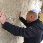 Praying for the peace of Jerusalem at the Western Wall