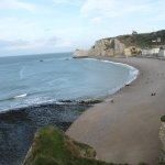 The beach at Etretat
