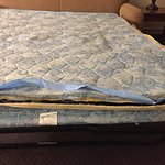Torn pull out bed mattress