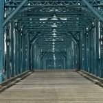 Walnut St Bridge over the Tennessee River. Chattanooga, TN