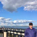 Posing with the Bridge far behind myself