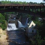 Highway bridge and Rainbow Falls
