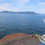 Sailing to Orcas Island.