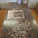 Puzzles! A great way to pass the time on a ferry.