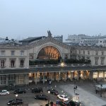 View from the balcony to Gare de L'Est