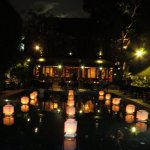 The beauty of the hotel during the Loy Krathong festival