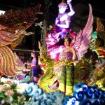 The Loy Krathong street parade.