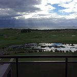 View from the room overlooking the golf course