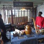 One of the stalls with SA food