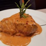 Sirloin steak in pink pepper sauce