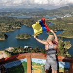 Flying Rafa's (now mine) Colombian flag over scenes!