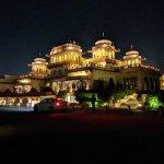 The Rambagh Palace at night