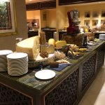 The cheese table on the Thursday buffet evening