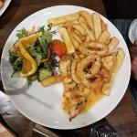 chilli chicken and crumb squid