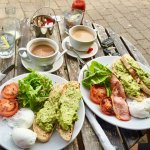 Enjoy a beautiful brunch on our front outside tables watching the busyness of Buckhurst Hill