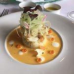 Razor Clam Salad with Sea Urchin and Orange Emulsion