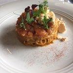 Handmade Tagliolini with Smoky Red Prawn Tartare and Amalfi Lemon