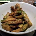 CRISPY FINGERLING POTATOES w/chimichurri