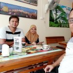 At Rania restaurent with its owner Hasan and lady server