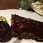 Appetizer Ribs and side of potato salad--I'd order it again!