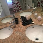 Lovely his and hers sink and large mirror