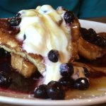 French toast, blueberries