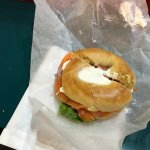 Fresh smoked Salmon Bagel