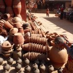 Pots being readied for market