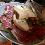 Platter of cured meats and cheeses