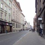 The street outside Orlowska Townhouse.
