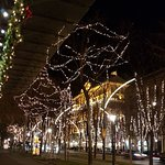 Ringstrasse with lights
