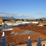 Vista desde el techo de catedral de la ciudad de León