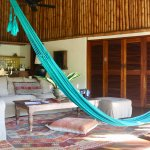 The central living space with a hammock!