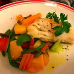 Cod with a vegetable medley