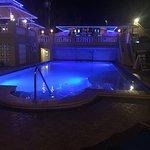 Pool at night w/ Horizons bar above