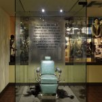 The chair where American Indians had to cut their hair..