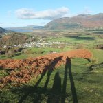 The 3 of us on Barrow in Braithwaite looking over to Skiddaw and Bassenthwaite Lake...