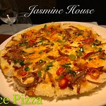Jasmine House Charing Special - Rice Pizza..... yummy!!!