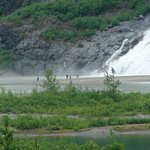 Water fall by Mendenhall Glacier