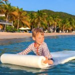 Very calm beach water for kids