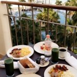 breakfast on our room balcony