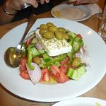 The best Greek salad in Crete!  The olives are amazing!